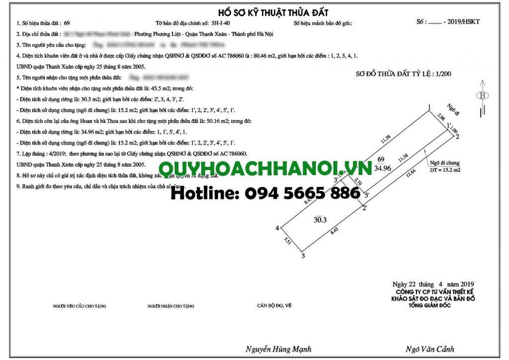 Sản phẩm đo đạc bản đồ hiện trạng quận Thanh Xuân sẽ đến tay khách hàng nhanh chóng