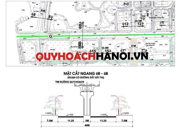 Bản đồ quy hoạch đường sẳt đô thị phường Hoàng Văn Thụ