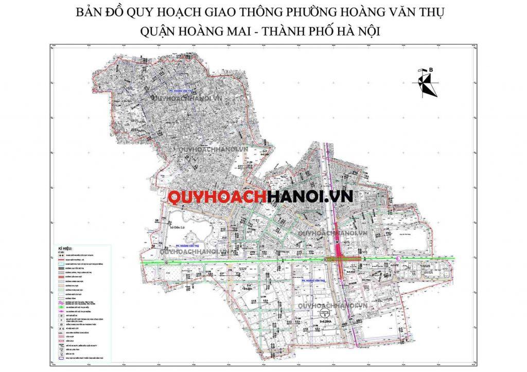 Bản đồ quy hoạch giao thông phường Hoàng Văn Thụ 1